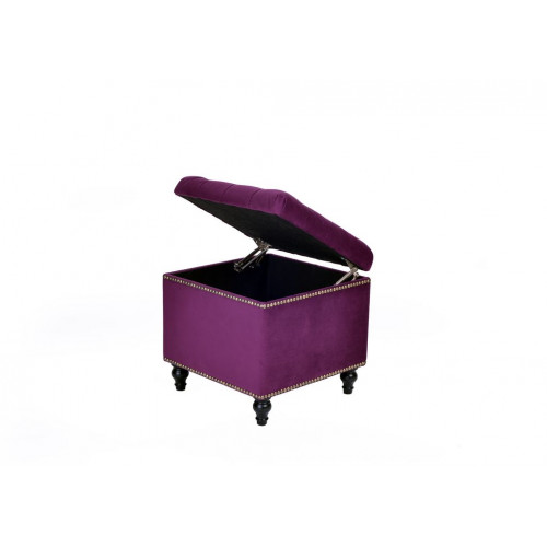 A44-BKG-E32 Пуф Матера Темно фиолетовый