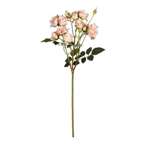 FL99-0055 Искусственный цветок Роза кустовая нежно-розовая 65 см (отгружается по 12 шт)