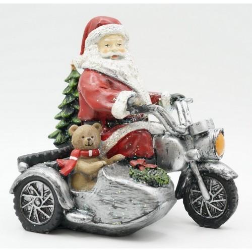 KT99-0049 Статуэтка Дед мороз на мотоцикле
