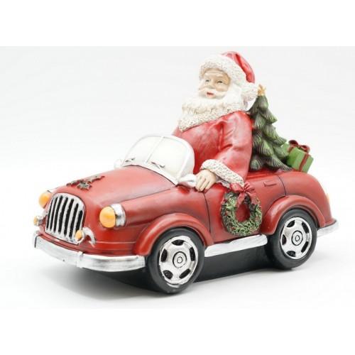 KT99-0052 Статуэтка Дед мороз на автомобиле