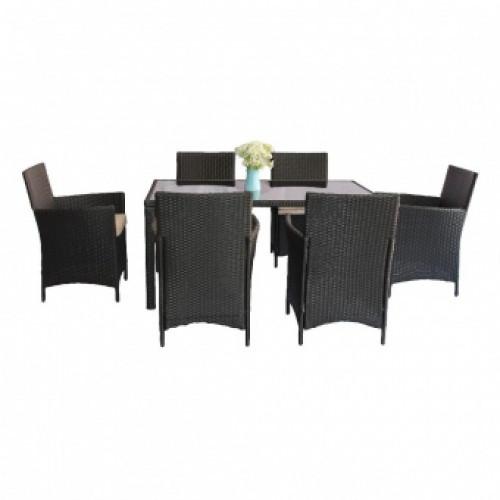 Комплект обеденный HELSINKI (стол + 6 кресел)