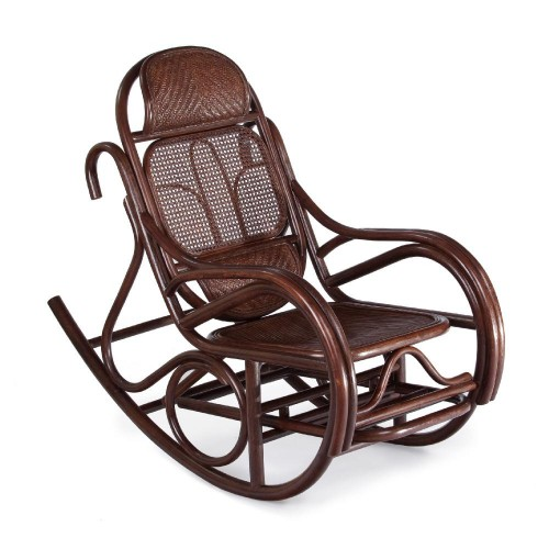 Кресло-качалка с выдвижной подножкой JR ALDINO, темный