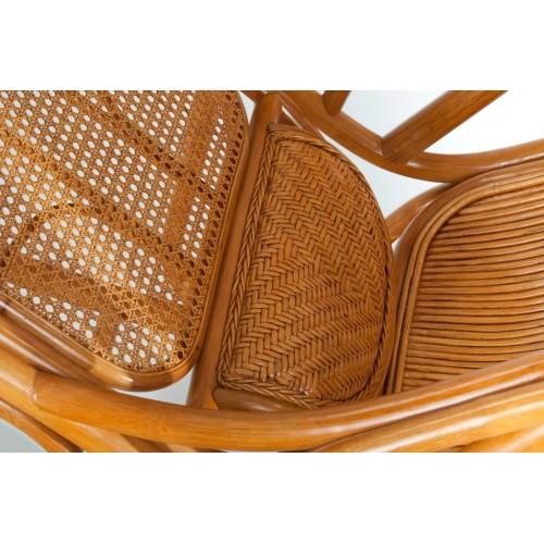 Кресло-качалка с выдвижной подножкой JR ALDINO, тёмный мёд