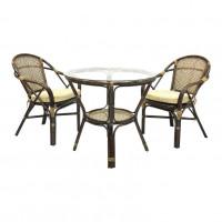 Столы обеденные плетеные