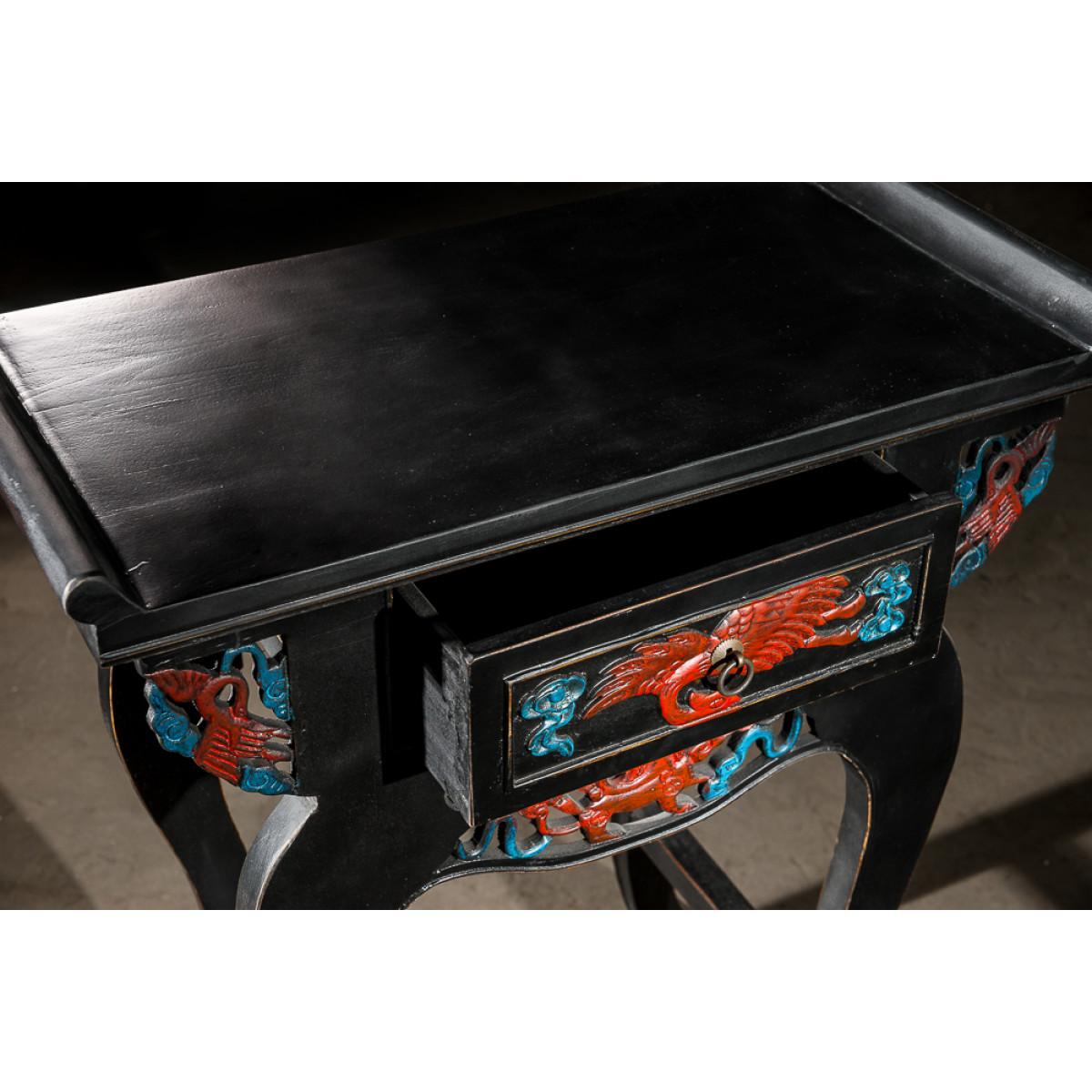 BF-20062 Лянь-Лянь-эр-чу-чаэ - узкая консоль украшенная росписью по резьбе. Династия Мин