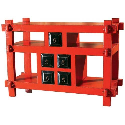 BF-20638 Гуйчу- шкаф комод. С четырьмя дверцами и ящиками.Красного цвета.