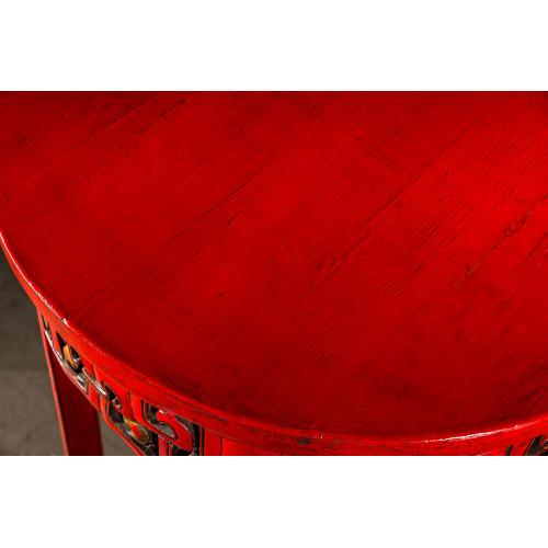 BF-20875 Дайбяо-хуа -традиционная подставка под цветы.Красного цвета