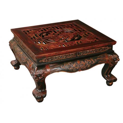 BF-21128 Фан-Чжо - стол для кана с искусной резьбой. Династия Цин