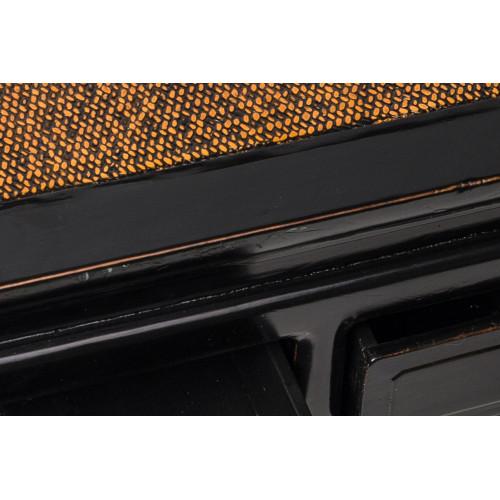 BF-21157 Фан-Чжо -традиционный квадратный стол черного цвета с двумя ящиками. Династия Мин