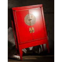 BF-20687 Гуй- традиционный шкаф, красного цвета с латунными запорами . Династия Мин