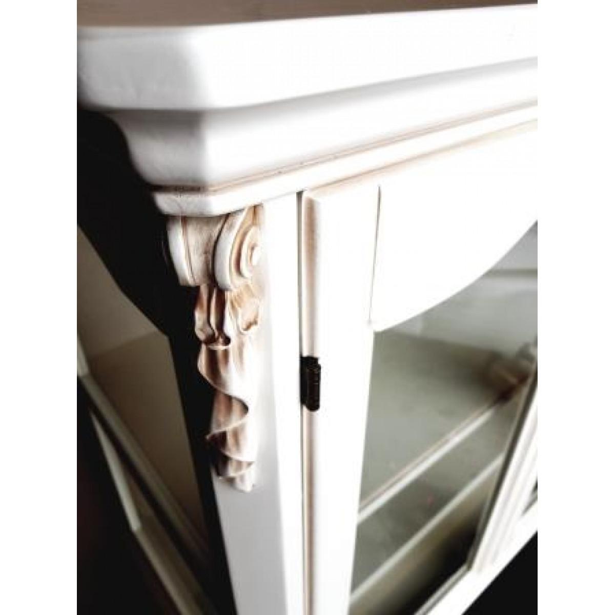 F6688 Витрина 2-х дверная низкая, коллекция White Rose