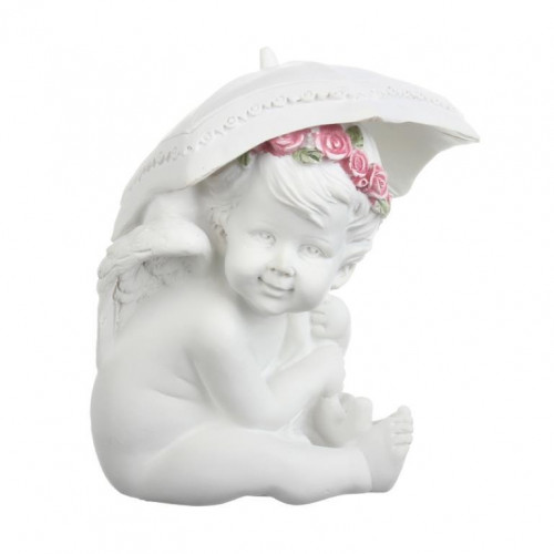 SU08-0012B Фигурка ангела с зонтом Роза