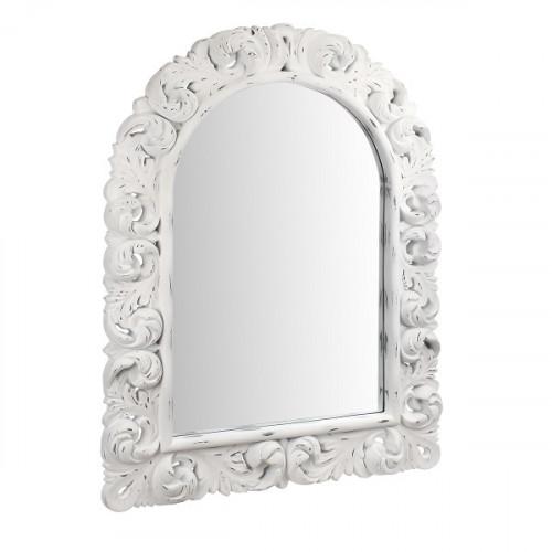 AN08-0004 Зеркало в белой резной раме