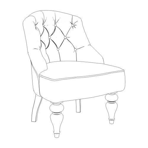M08-W-E03 Кресло Шоффез коллекция L'Atelier Du Meuble