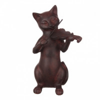 QJ99-0098 Статуэтка кот музыкант