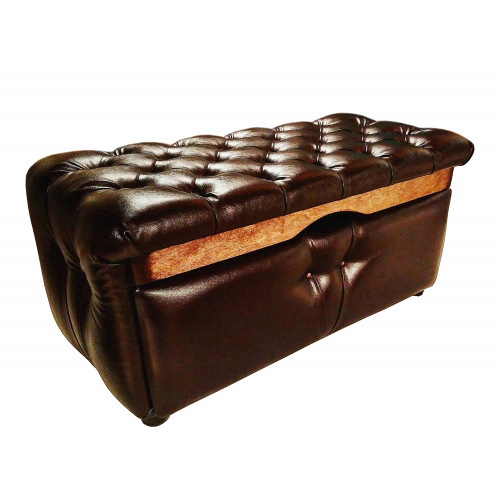 Пуф с ящиком для хранения Vendetta Dark brown gloss