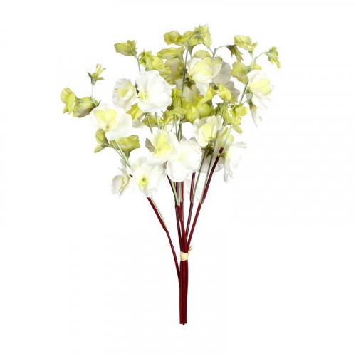 FL99-0085 Искусственный цветок Латирус белый (отгружается по 12 шт)