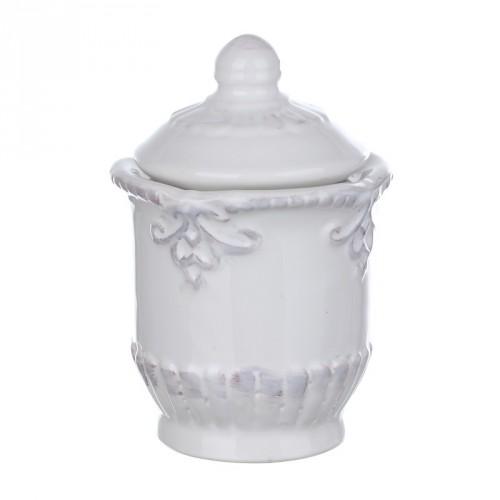 DB08-0002 Сахарница с крышкой из грубой керамики