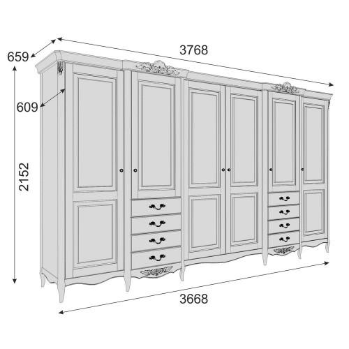 APg626E-K02-G Шкаф 6 дверей