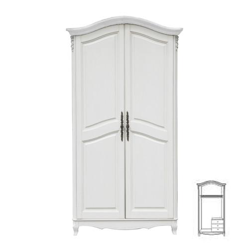 F6682Шкаф 2-х дверный коллекция White Rose