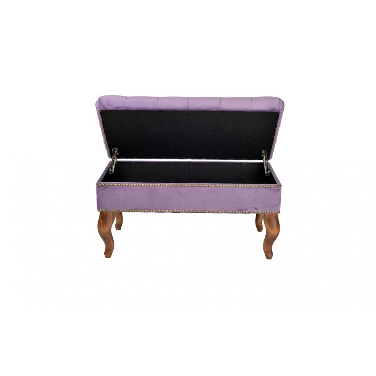 AK04-BKG-712 Банкетка Калабрия фиолетовая