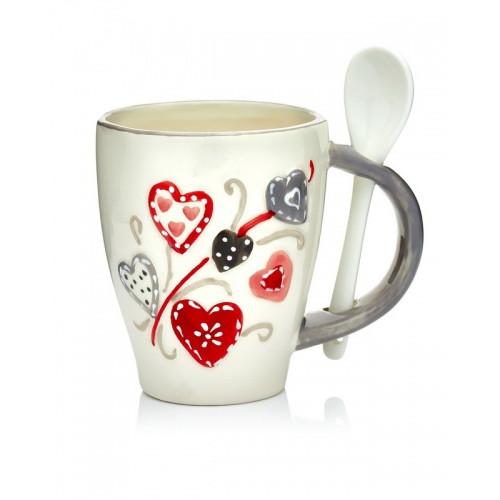 HG08-0014 Чашка с ложкой 12,5х8,5х10,5(13)