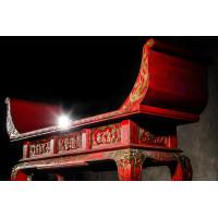 BF-20354 Цяотоуань Традиционная консоль для каллиграфии с цветными рельефами жанровыми сценками Династия Цин