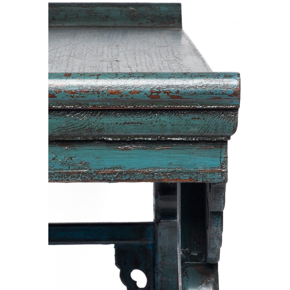 BF-20472 Цяотоуань - Традиционная консоль для каллиграфии. Серо-голубого цвета.