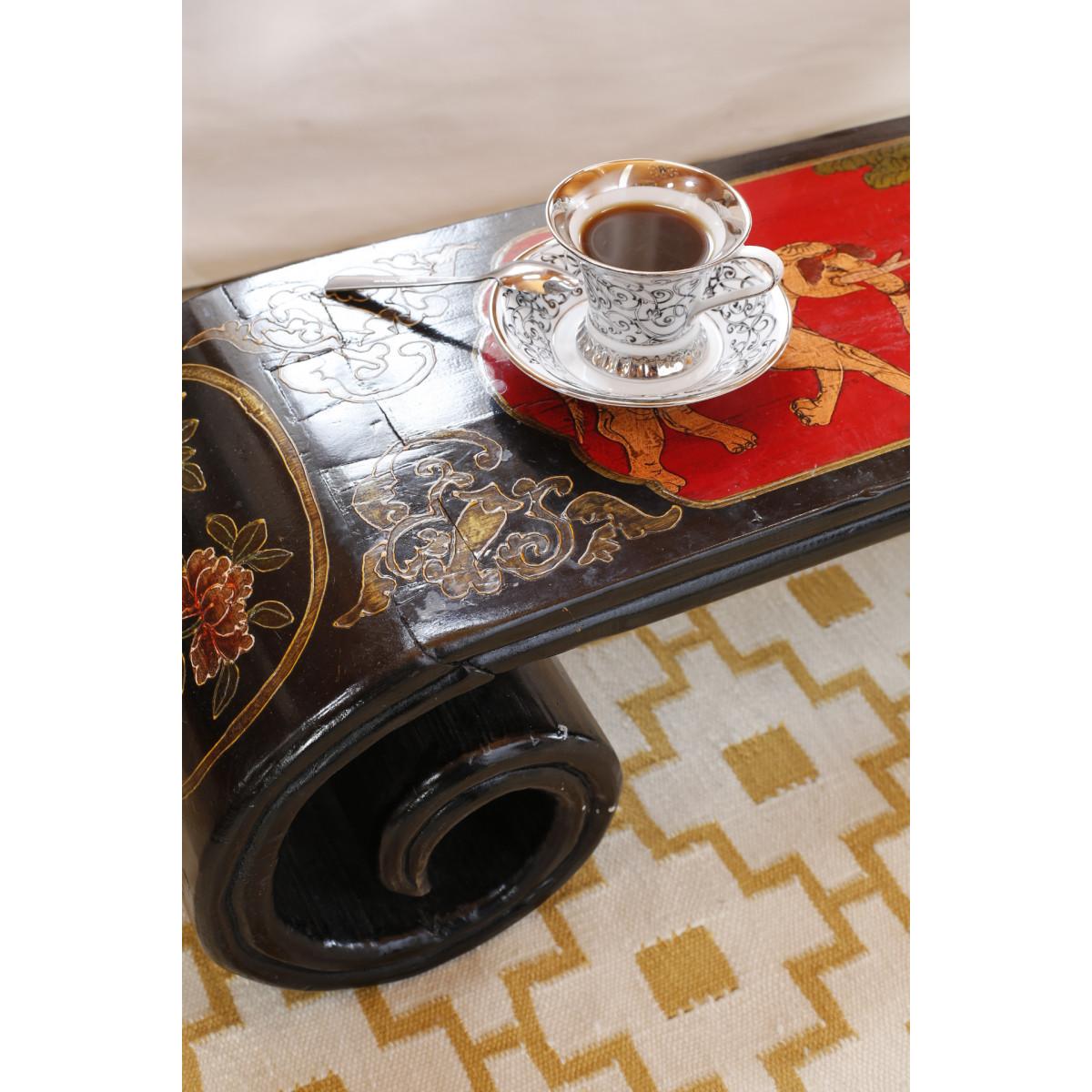 BF-20006 Кан-ань -традиционный чайный стол для лежанки - Кан с многоцветной росписью