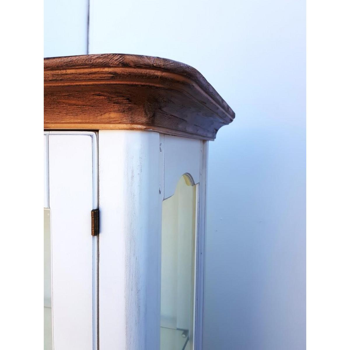 DF860 (H03+M01) Витрина однодверная, коллекция Provence Noir&Blanc