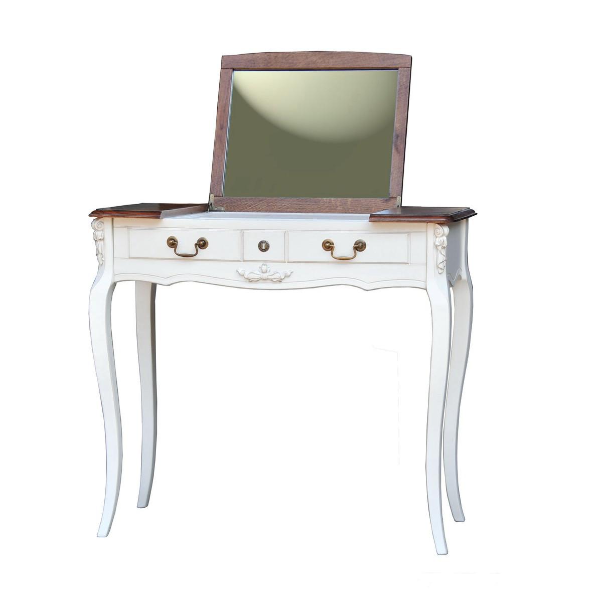 AS6609 Туалетный стол с зеркалом коллекция White Rose