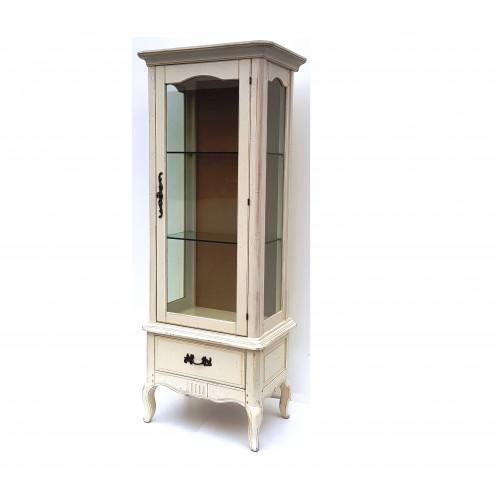 DF860 (S2) Витрина однодверная, коллекция Provence Noir&Blanc