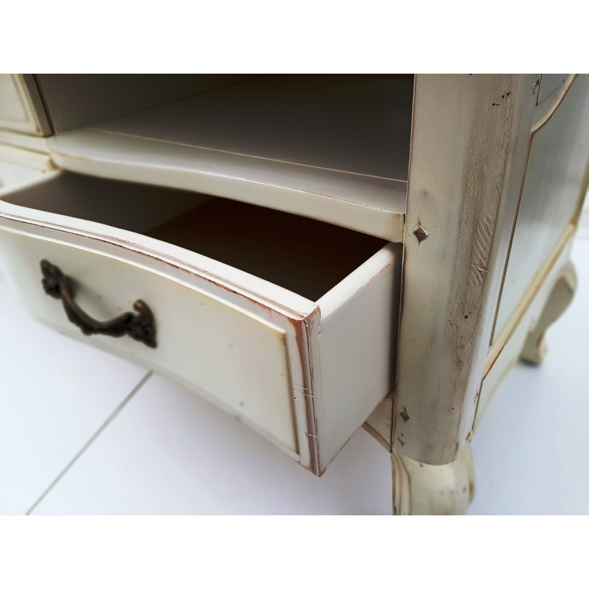 DF882 (S2) ТВ тумба коллекция Provence Noir&Blanc