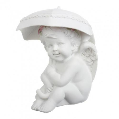 SU08-0012А Фигурка ангела с зонтом Роза