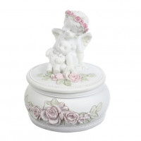 SU08-0014B Шкатулка с ангелом Роза
