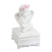 SU08-0019 Шкатулка квадратная с ангелом Роза