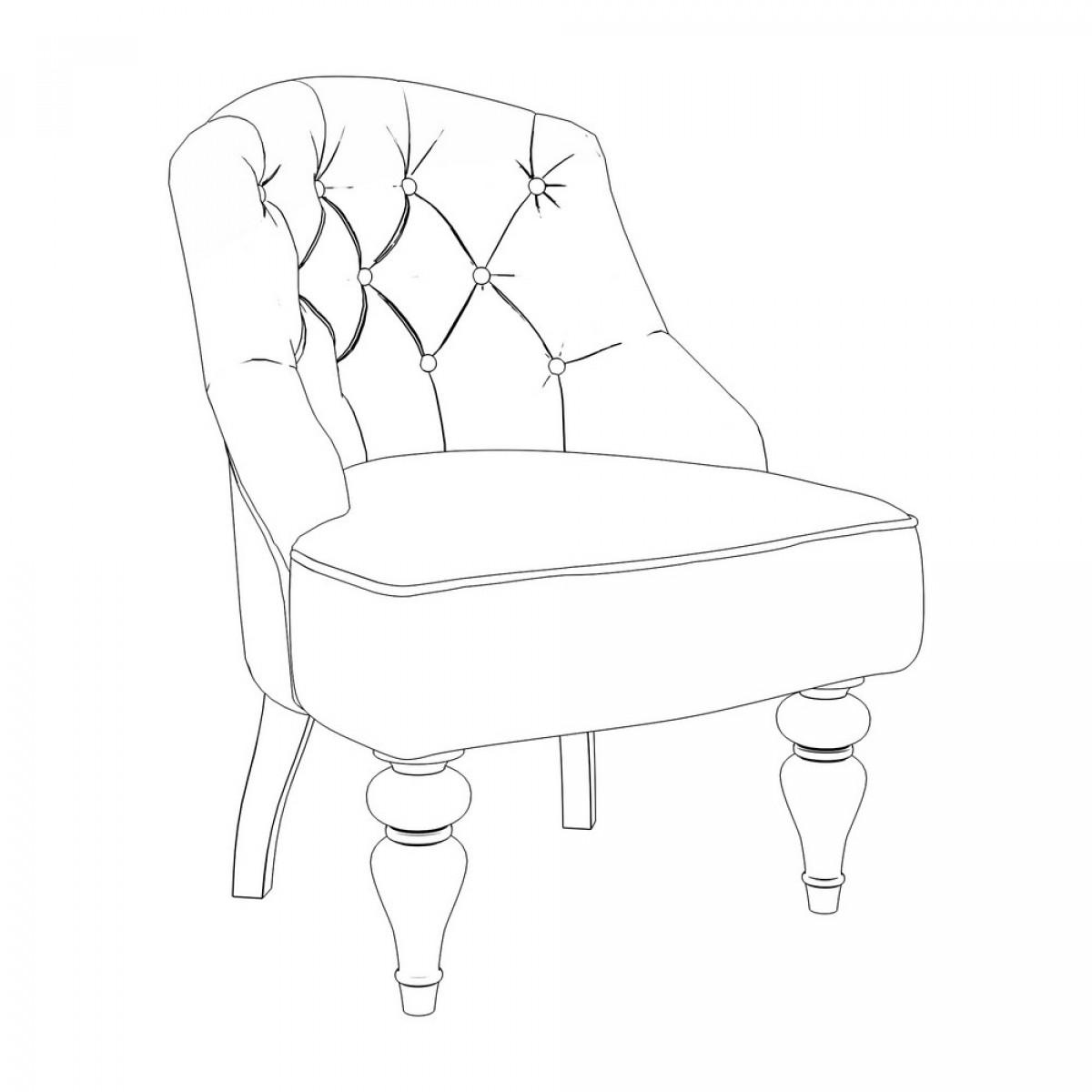 M08-B-E30 Кресло Шоффез коллекция L'Atelier Du Meuble