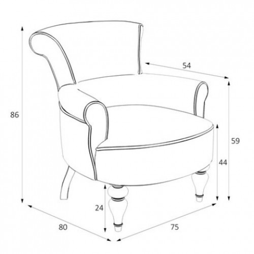 M11-B-0590 Кресло Перфетто