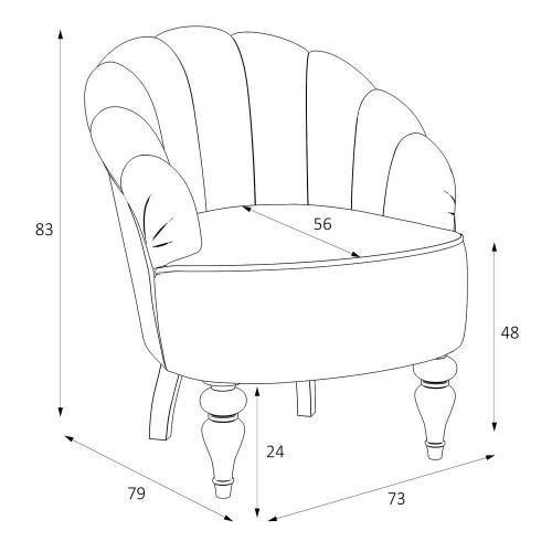 M15-W-0362 Кресло Шелли коллекция L'Atelier Du Meuble
