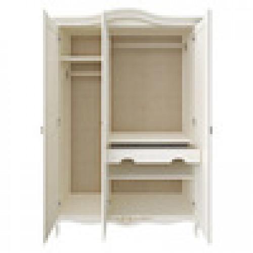 R123g Шкаф 3 дверный коллекция Romantic Gold