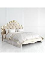 R416-K02-AG-B01 Кровать с мягким изголовьем 160*200 коллекция Romantic Gold