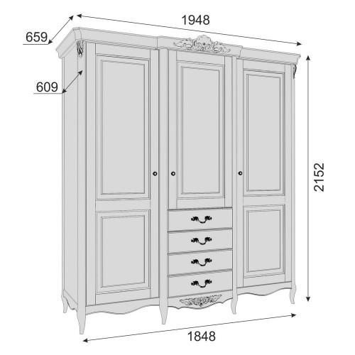 APs623E-K04-S Шкаф 3 двери