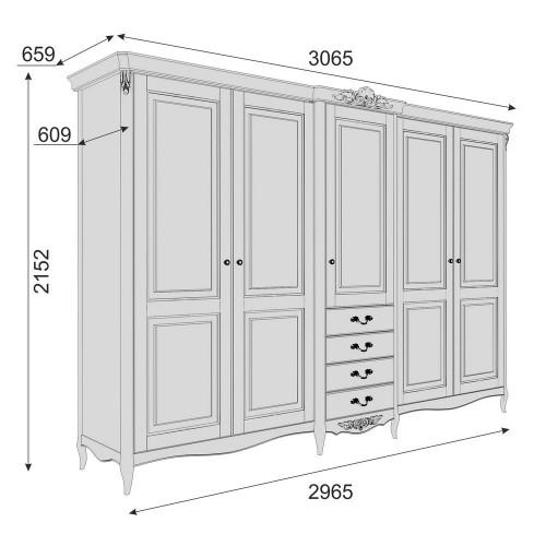 APs625E-K04-S Шкаф 5 дверей